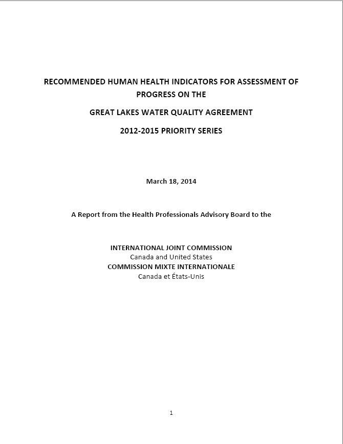 Publications Of The Health Advisory Board
