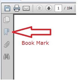 PDF Book Mark Button