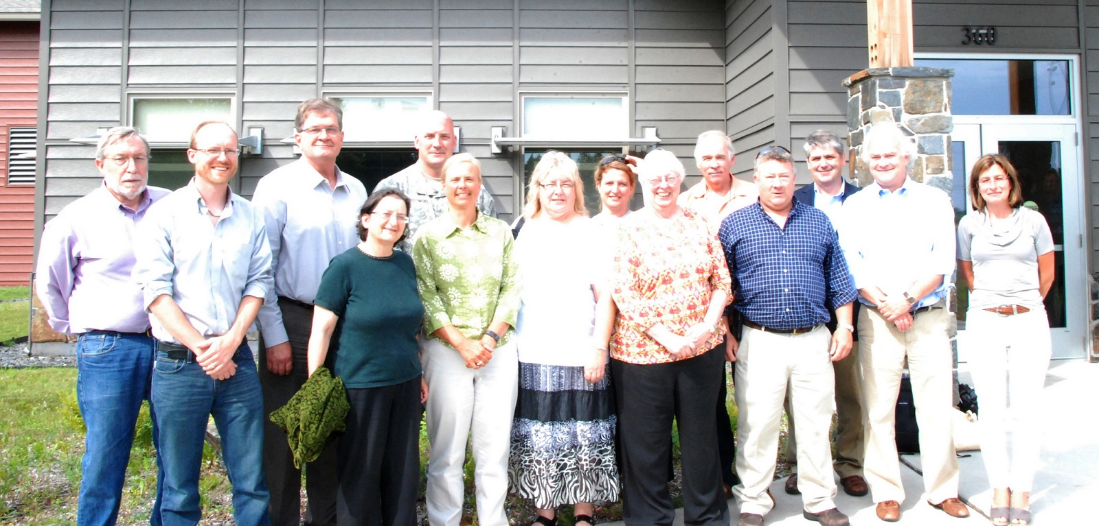 Some Board members before an August 2015 meeting