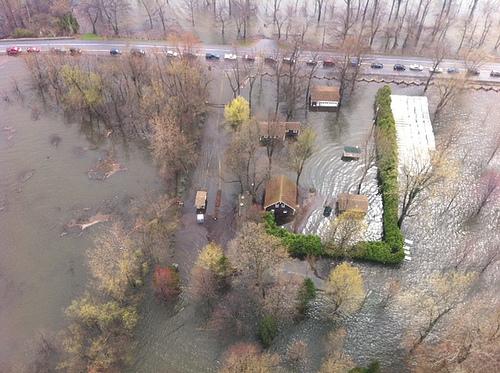 Flood damage around Lake Champlain in 2011. Credit: Vermont gov.