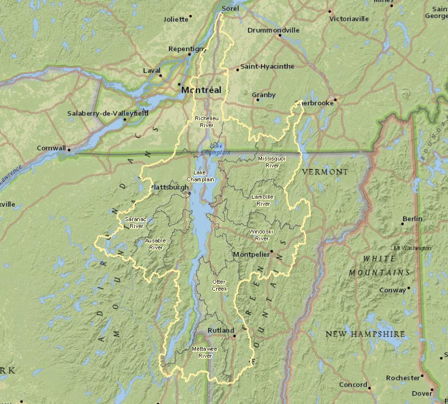 The Champlain-Richelieu basin.
