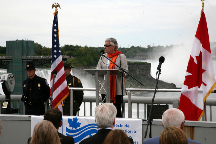 IJC U.S. Chair Irene Brooks at the ceremony.