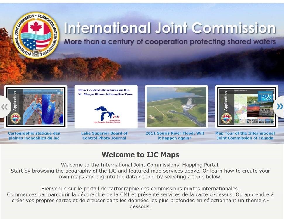 A screenshot of the IJC mapping portal. Credit: IJC
