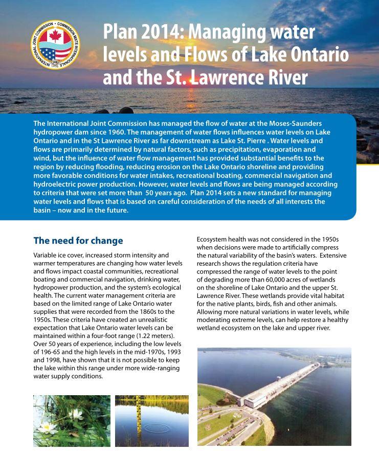 June 2014 Fact Sheet on Plan 2014