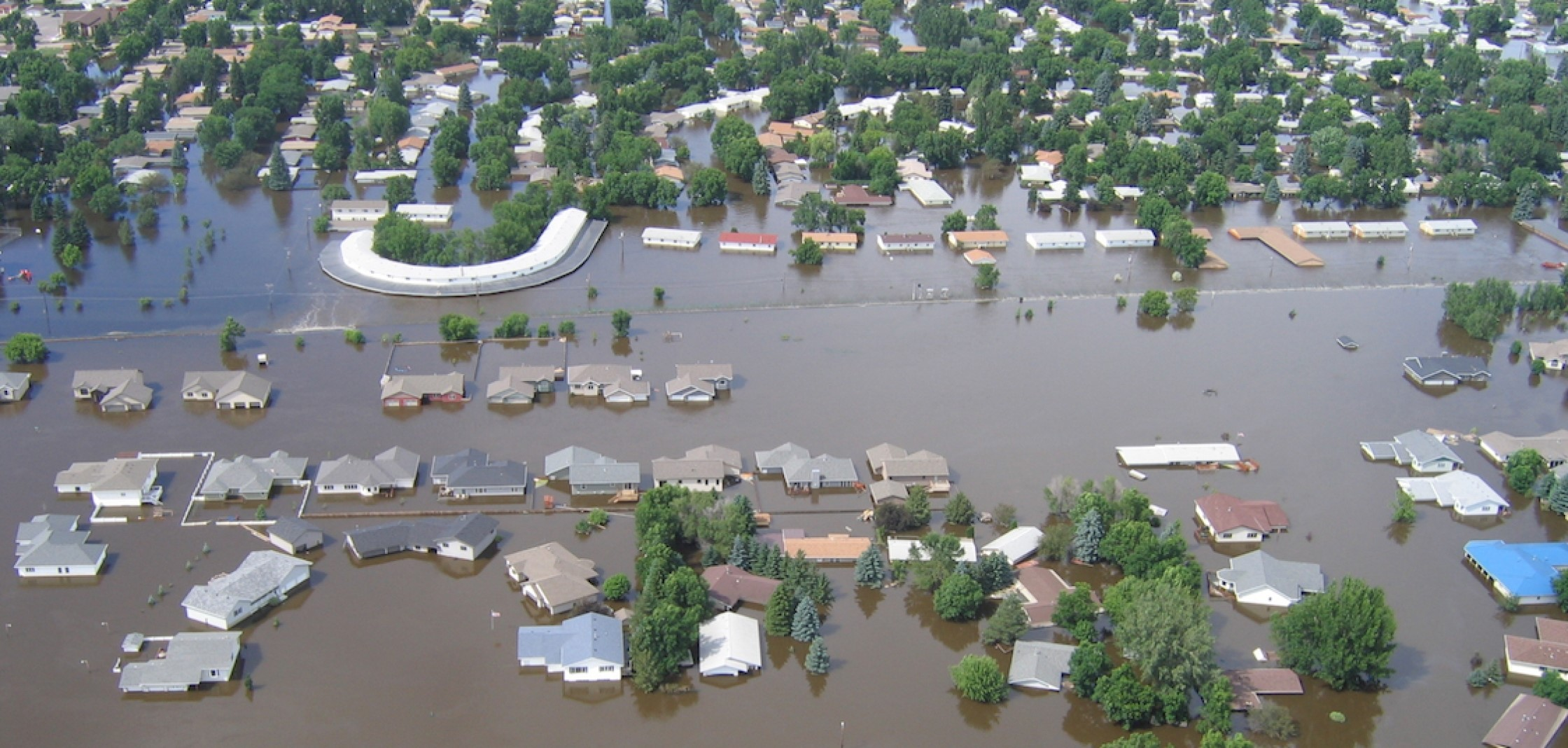 The US National Oceanic and Atmospheric Administration is urging communities in northern North Dakota to prepare for moderate-to-major flooding along the Souris River. The last flood, pictured here in Minot, took place in 2011. Credit: North Dakota State Water Commission