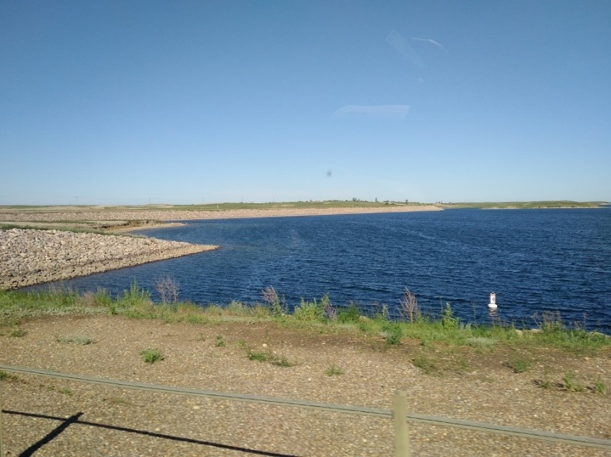 A view of the Rafferty reservoir in summer 2018. Credit: IJC
