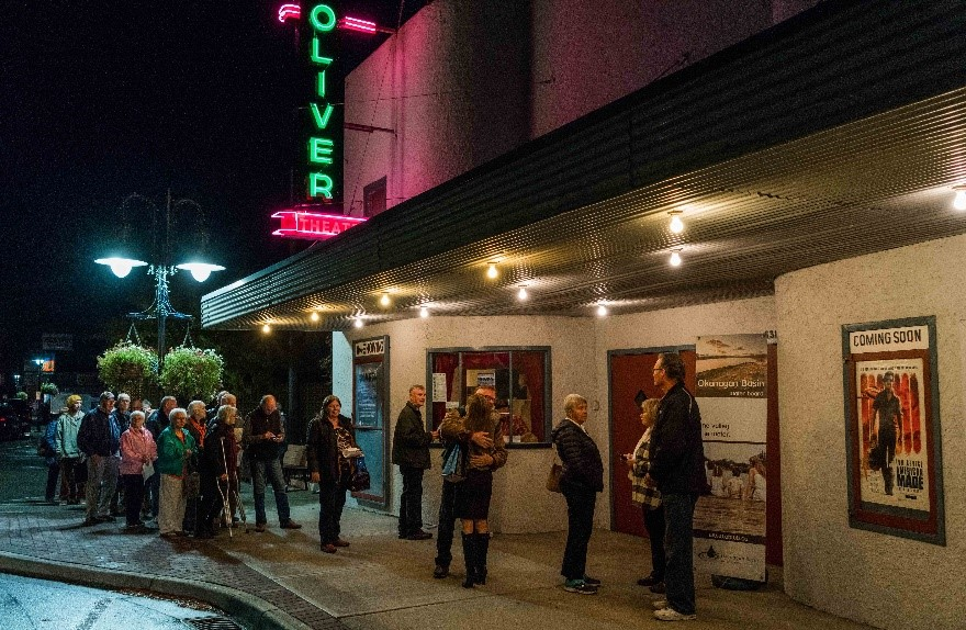 People line up for the premiere in Oliver. Credit: Ascent Films