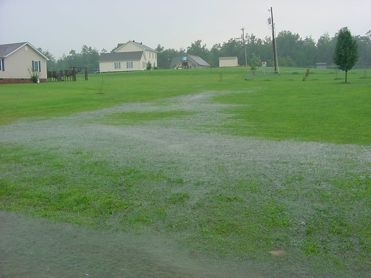 Runoff during a storm. Credit: Gary O'Dell