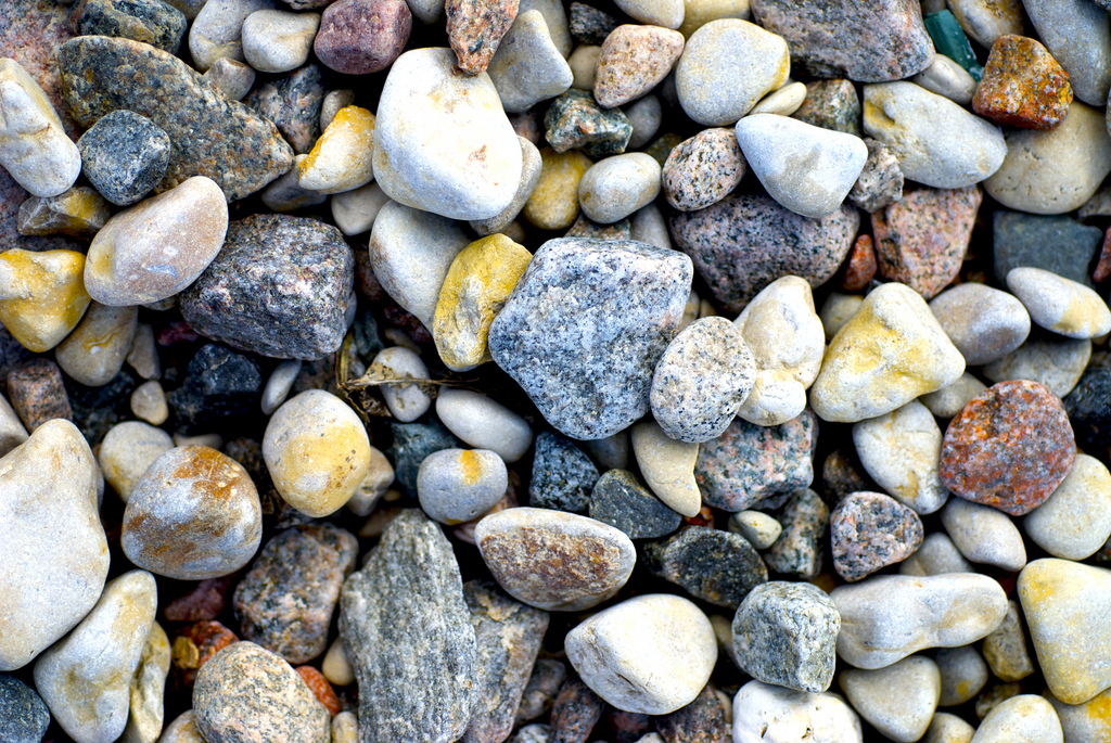 Stones on the Lake Winnipeg shoreline. Credit: Joel Penner.