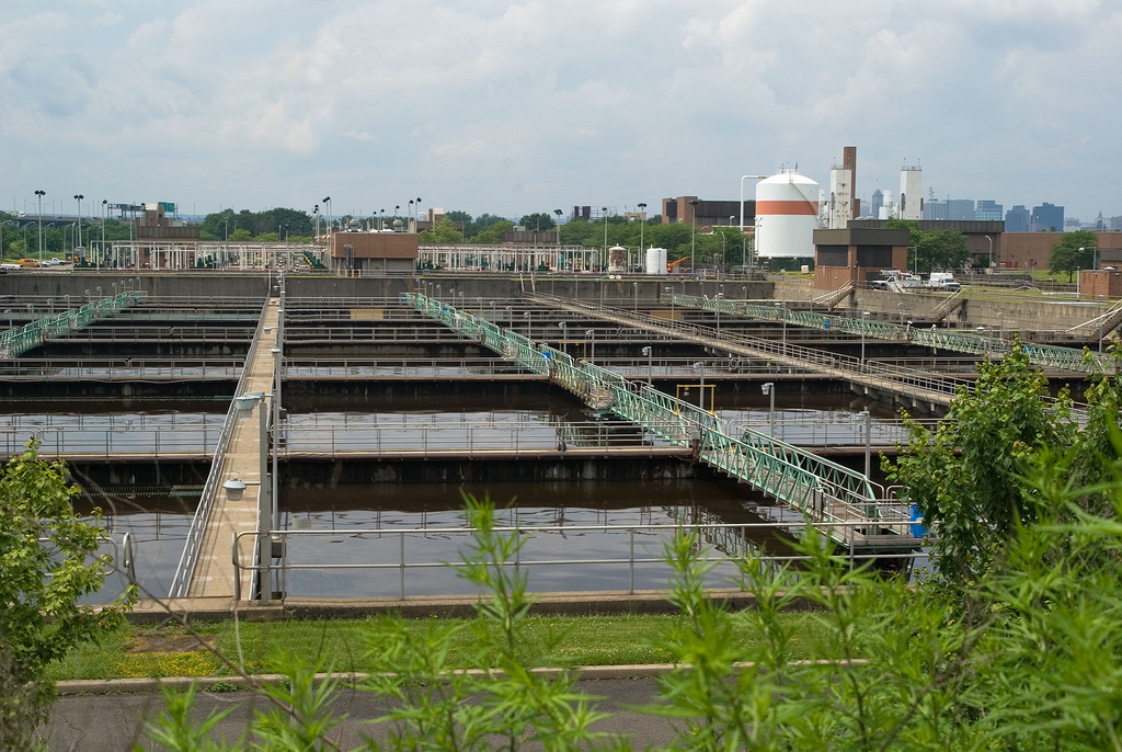 Wastewater treatment plants are among the pathways by which chemicals of emerging concern enter the Great Lakes. Credit: Dan DeLuca.